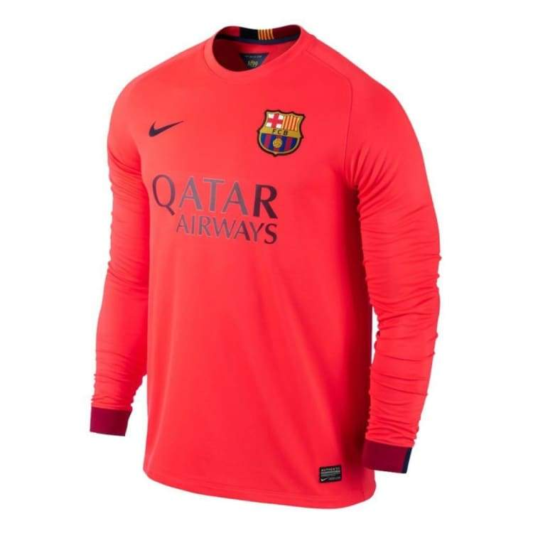 Jerseys / Soccer: Nike Fc Barcelona 14/15 (A) L/s 618738-672 - Nike / L / Coal / 1415 Away Kit Barcelona Clothing Coal |
