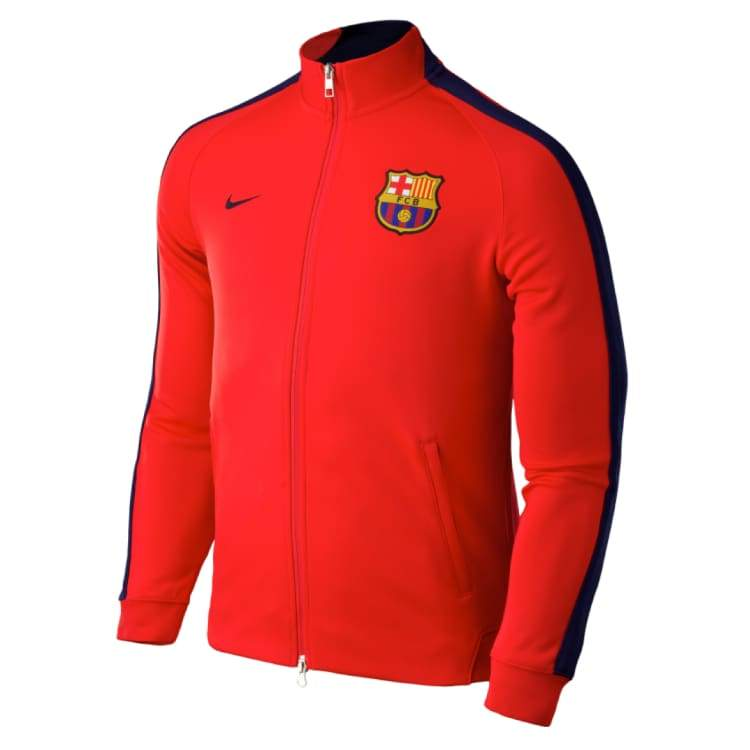 Jackets / Track: Nike Fc Barcelona 14/15 Authentic N98 Jacket 607711-696 - Nike / S / Red / 1415 Barcelona Clothing Fc Barcelona Football |