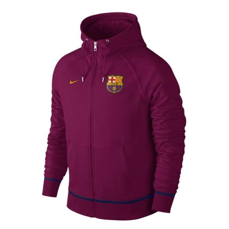 Hoodies & Sweaters: Nike Fc Barcelona 16/17 Authentic Aw77 Full-Zip Hoodie 689928-560 - Nike / Xl / Purple / 1617 Barcelona Clothing