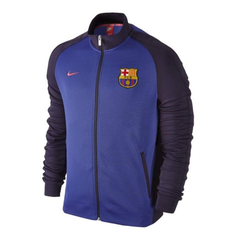 Jackets / Track: Nike Fc Barcelona 16/17 Authentic N98 Track Jacket Purple 777311-524 - Nike / L / Purple / 1617 Barcelona Clothing Fc