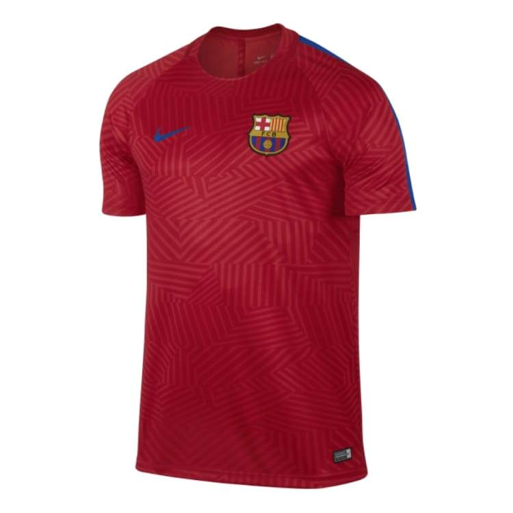 Tees / Short Sleeve: Nike Fc Barcelona 16/17 Dry Top S/s 808954-658 - Nike / M / Red / 1617 Barcelona Clothing Football Land |