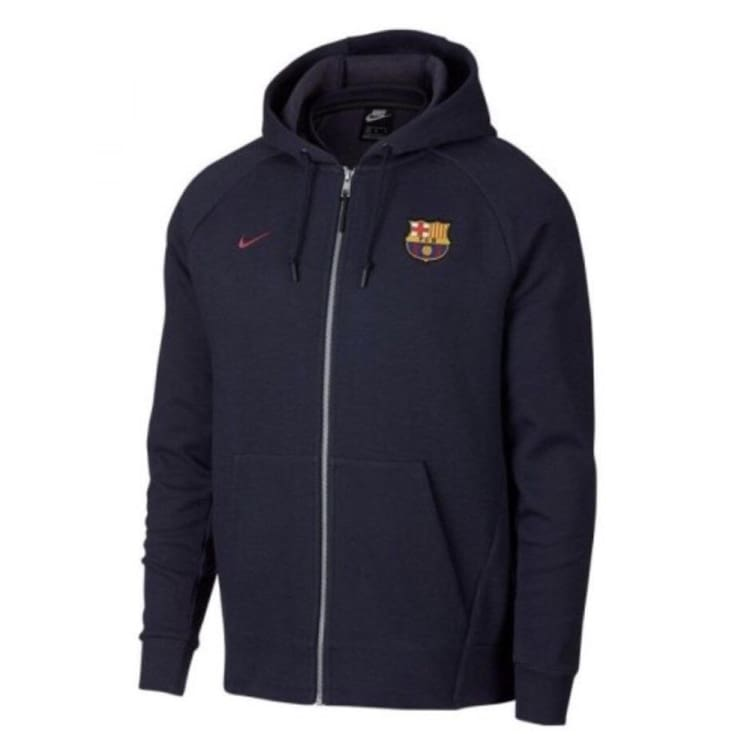 Hoodies & Sweaters: Nike Fc Barcelona 1819 Full-Zip Hoodie 892452-451 - Nike / S / Navy / 1819 Barcelona Clothing Football Hoodies &
