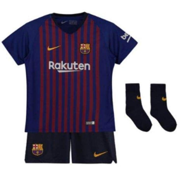 Jerseys / Soccer: Nike Fc Barcelona 18/19 (H) Baby Set 894485-456 - Nike / Month: 3-6 / Blue / 1415 Barcelona Blue Clothing Football |