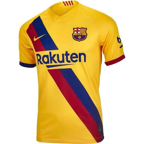 Jerseys / Soccer: Nike FC Barcelona 19/20 (A) Youth S/S Jersey AJ5800-728 - Nike / Kids: XS / Yellow / 1920 Away Kit BARCELONA Clothing