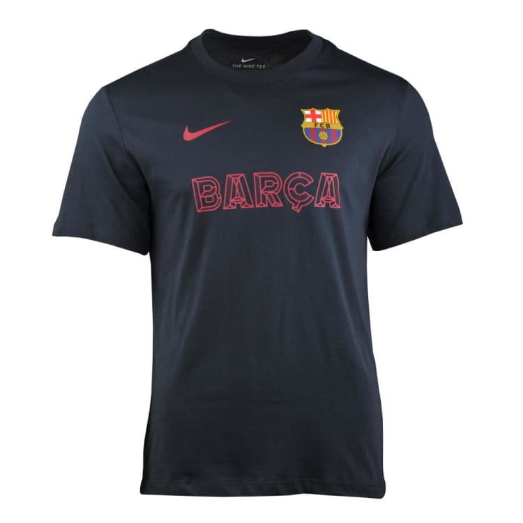 Tees / Short Sleeve: NIKE FC BARCELONA TEE CORE MATCH DARK OBSIDIAN AR0276-475 - Nike / S / 1920 BARCELONA Clothing Football Land |