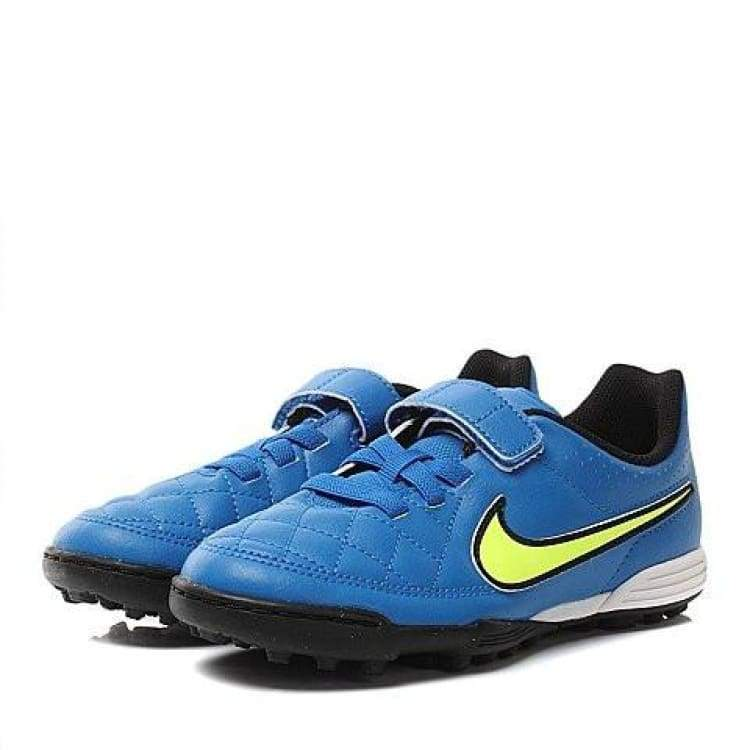 Shoes / Soccer: Nike Jr Tiempo V4 Tf 658104-470 Kids - Us: 3.5 / Blue / Nike / Blue Football Footwear Kids Land | Ochk-Sfalo-658104-470-35
