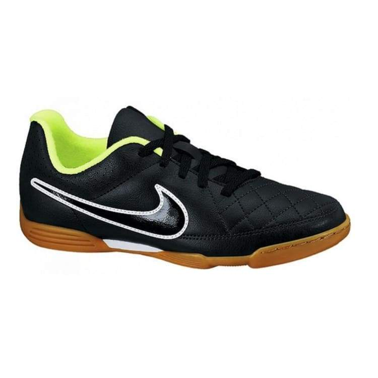 Shoes / Soccer: Nike Junior Tiempo Rio Ii Ic 631526-017 - Nike / Age: 6 / Black / Black Football Footwear Kids Land |