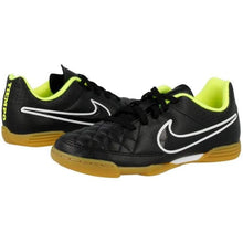 Shoes / Soccer: Nike Junior Tiempo Rio Ii Ic 631526-017 - Black Football Footwear Kids Land