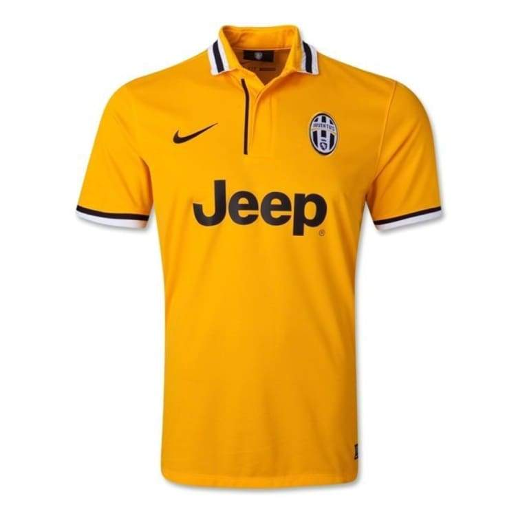 Jerseys / Soccer: Nike Juventus 13/14 (A) S/s 533057-717 - Nike / Xl / Yellow / 1314 Away Kit Clothing Football Jerseys |