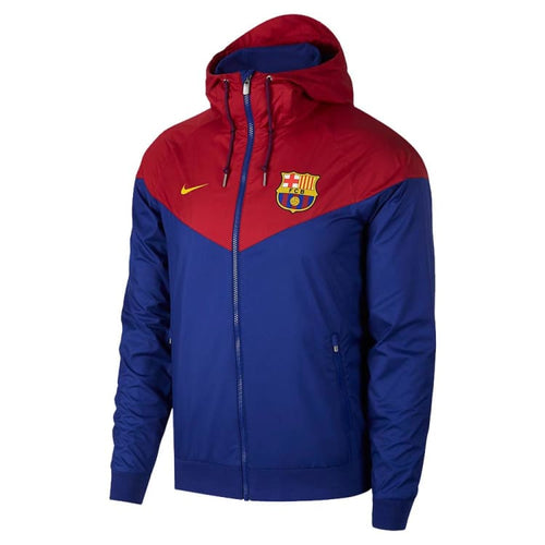 Jackets / Track: Nike M Fc Barcelona 18/19 Authentic Jacket Av3142-455 - Nike / S / Red/blue / 1819 Barcelona Clothing Fc Barcelona Football
