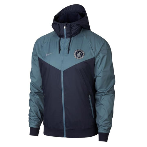 Jackets / Windbreaker: Nike M Nsw Chelsea Fc Windrunner Jackets Aj3291-455 - Nike / S / Blue / 1819 Blue Chelsea Clothing Football |