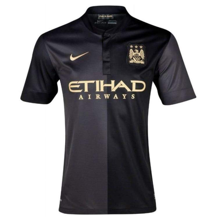 Jerseys / Soccer: Nike Manchester City 13/14 (A) S/s 574864-011 - Nike / S / Black / 1314 Away Kit Black Clothing Football |