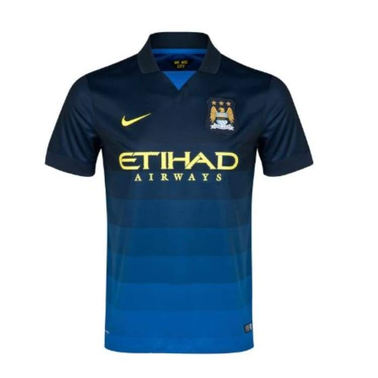 Jerseys / Soccer: Nike Manchester City 14/15 (A) S/s 611051-476 - Nike / Blue / M / 1415 Away Kit Blue Clothing Football |