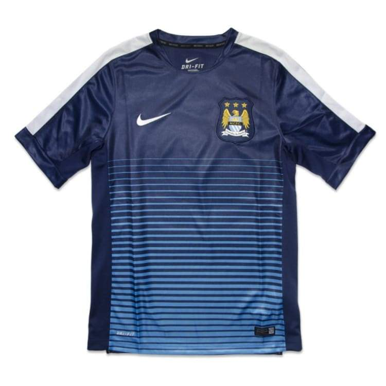 Jerseys / Soccer: Nike Manchester City 14/15 Squard Pre-Match Top S/s 610571-411 - Nike / S / Blue / 1415 Blue Clothing Football Jerseys |