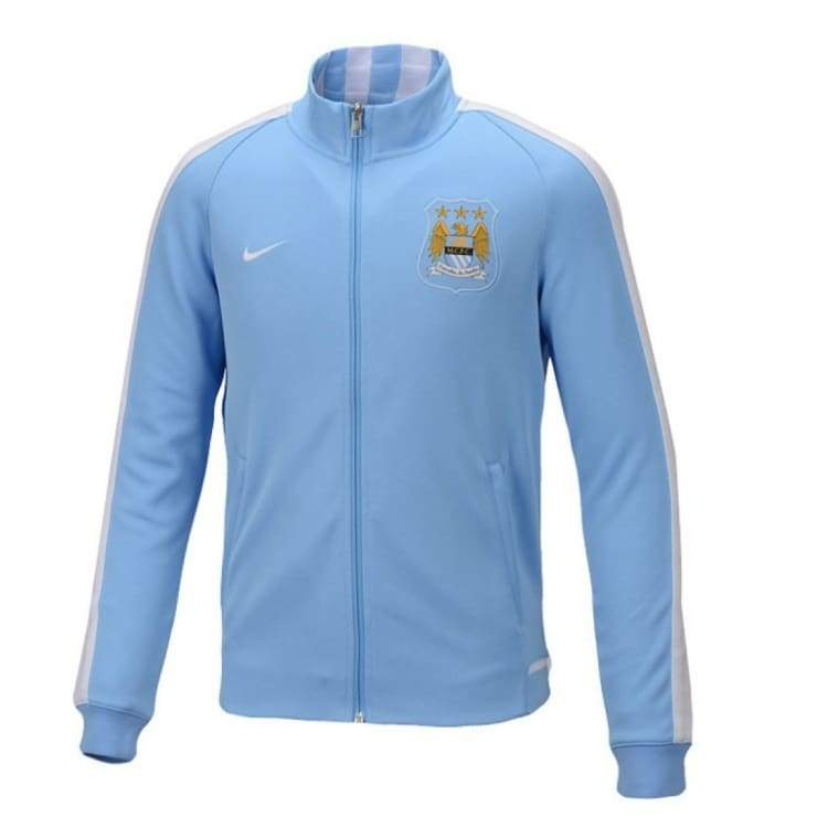 Jackets / Track: Nike Manchester City 15/16 N98 Authentic Track Jacket Bu/wht 666635-488 - Nike / Xl / Blue / 1516 Blue Clothing Football