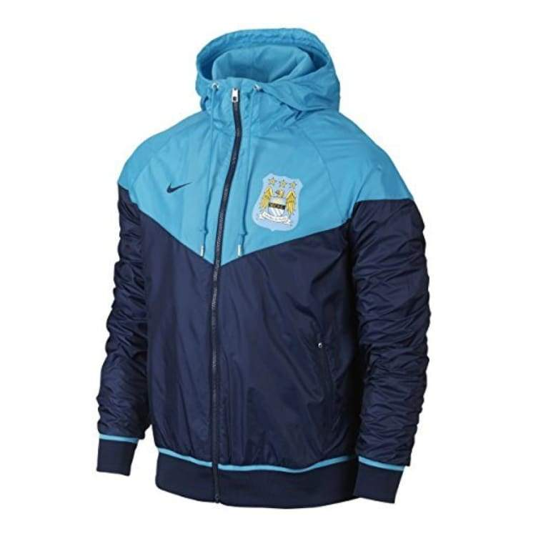 Jackets / Windbreaker: Nike Manchester City 15/16 Windrunner Authentic Jacket Bu/nvy 693087-432 - Nike / S / Blue / 1516 Blue Clothing
