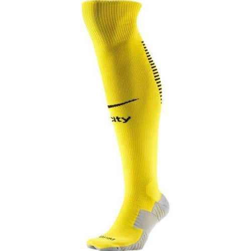 Socks / Soccer: Nike Manchester City 16/17 (A) Stadium Socks Wht 776779-741 - Nike / Uk: 5-8 / Yellow / 1617 Accessories Away Kit Football