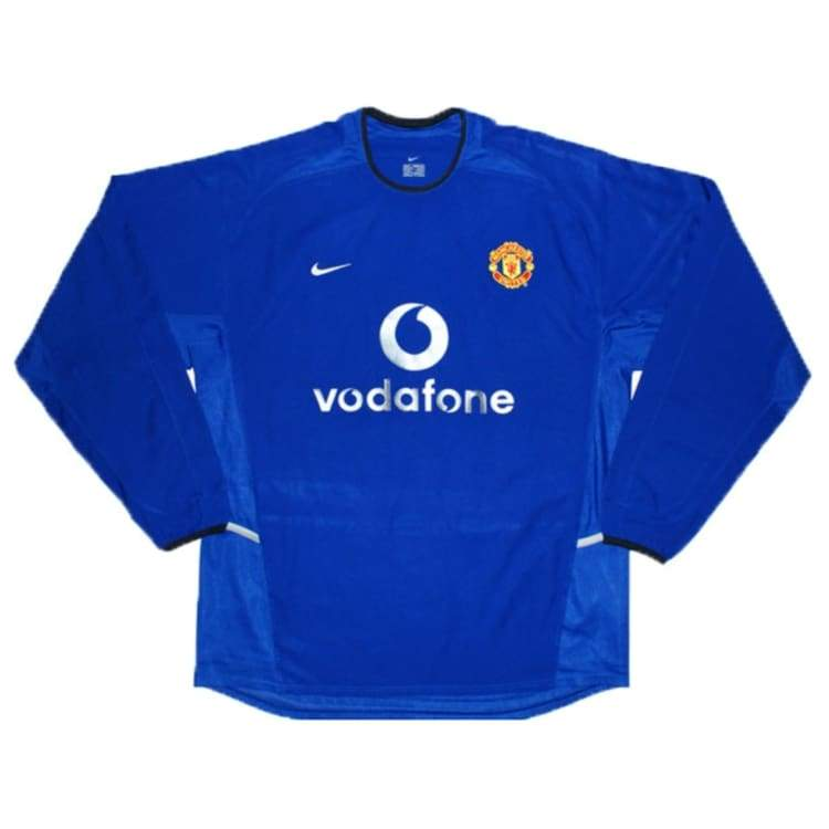 Jerseys / Soccer: Nike Manchester United 02/03 (3Rd) L/s - Nike / Xl / Blue / 0203 Blue Clothing Football Jerseys |