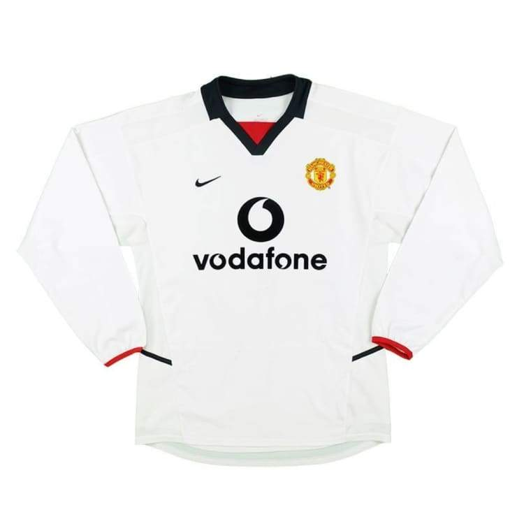 Jerseys / Soccer: Nike Manchester United 02/03 (A) L/s - Nike / Xl / White / 0203 Away Kit Clothing Football Jerseys |