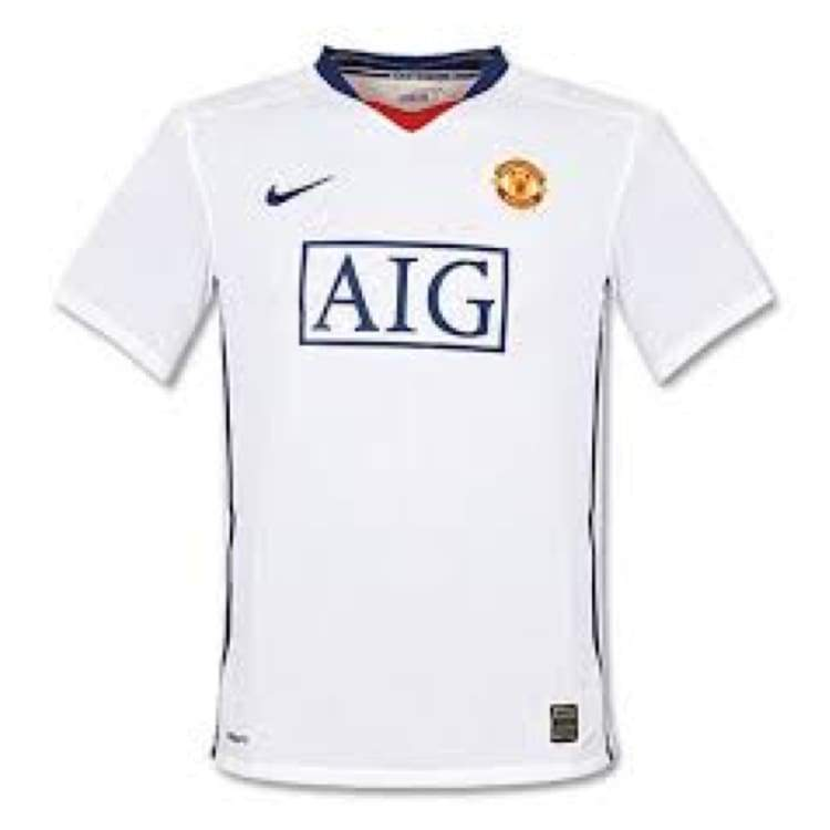 Jerseys / Soccer: Nike Manchester United 08/09 (A) S/s 287611-105 - Nike / Xl / White / 0809 Away Kit Clothing Football Jerseys |
