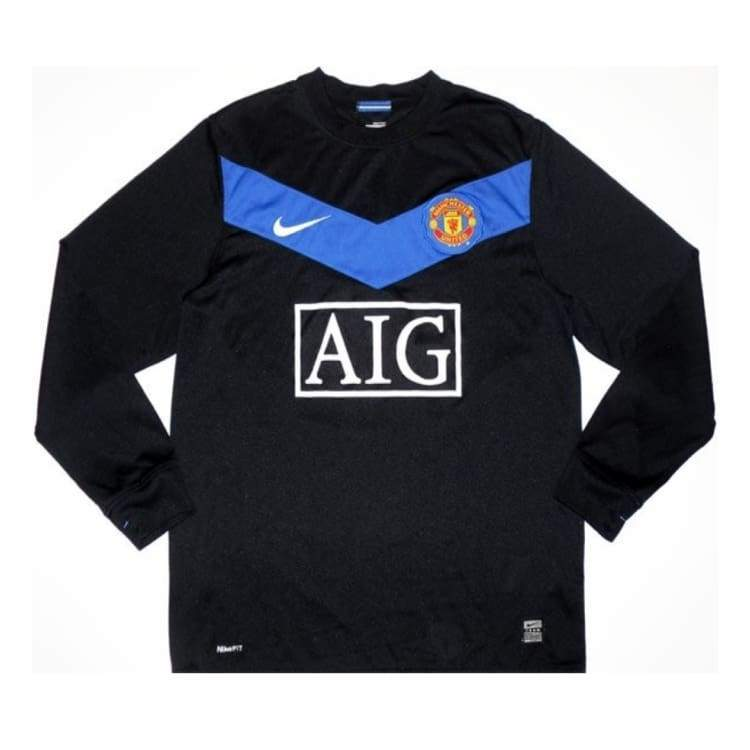 Jerseys / Soccer: Nike Manchester United 09/10 (A) L/s - Nike / L / Black / 0910 Away Kit Black Clothing Football | Ochk-Sfalo-Lseng01090A-L