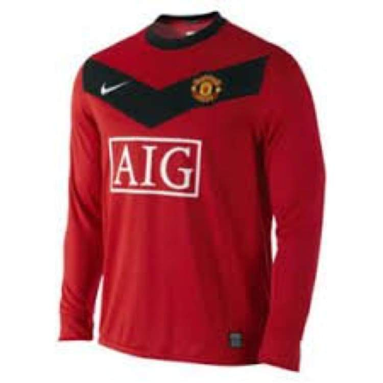 Jerseys / Soccer: Nike Manchester United 09/10 (H) L/s 355092-623 - Nike / L / Red / 0910 Clothing Football Home Kit Jerseys |