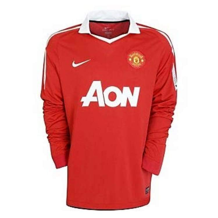 Jerseys / Soccer: Nike Manchester United 10/11 (H) L/s 382996-623 - Nike / M / Red / 1011 Clothing Football Home Kit Jerseys |