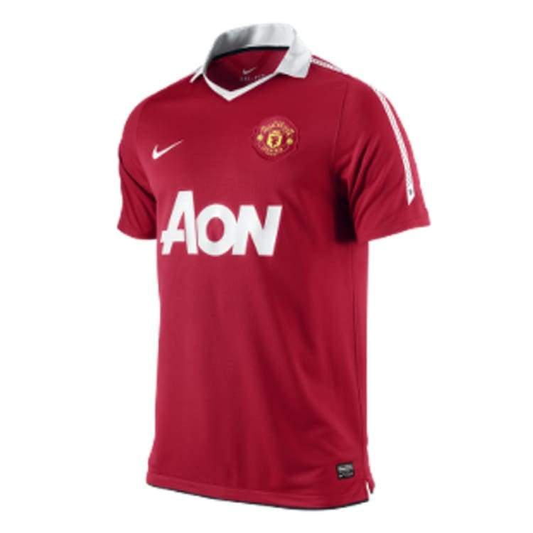 Jerseys / Soccer: Nike Manchester United 10/11 (H) S/s 382469-623 - Nike / S / Red / 1011 Clothing Football Home Kit Jerseys |