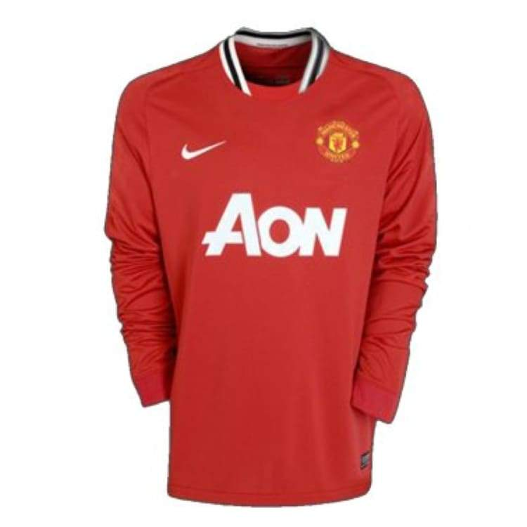 Jerseys / Soccer: Nike Manchester United 11/12 (H) L/s - Nike / L / Red / 1112 Clothing Football Home Kit Jerseys | Ochk-Sfalo-Lseng01110H