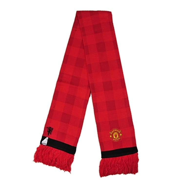 UHBHEA Manchester United Man Utd Scarf FC Double Sided Fan Knitted 2018-2019 Season Home Scarf Red