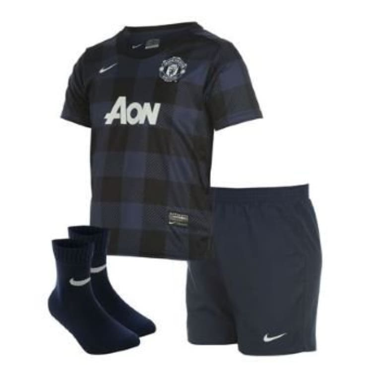 Jerseys / Soccer: Nike Manchester United 13/14 (A) Little Boy Set 532874-411 - Nike / Kids: S / Black / 1314 Away Kit Black Clothing