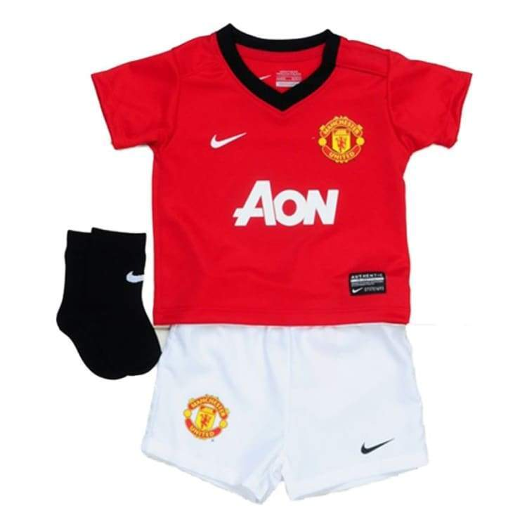 Jerseys / Soccer: Nike Manchester United 13/14 (H) Infants Kit 532876-624 - Nike / Month: 18-24 / Red / 1314 Clothing Football Home Kit