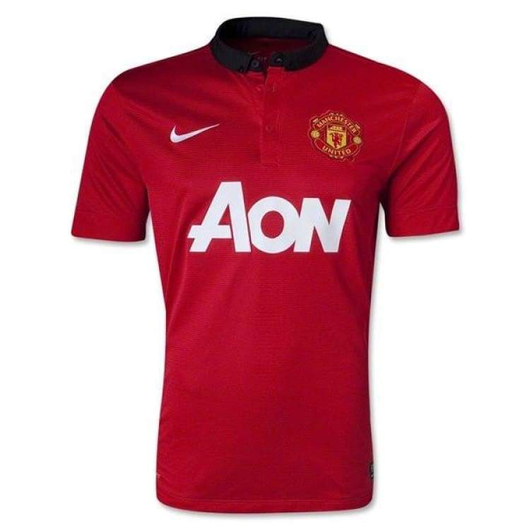 Jerseys / Soccer: Nike Manchester United 13/14 (H) S/s 532837-624 - Nike / S / Red / 1314 Clothing Football Home Kit Jerseys |