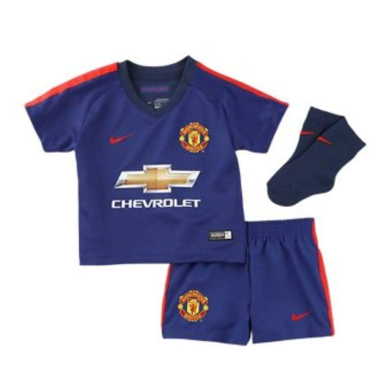 Jerseys / Soccer: Nike Manchester United 14/15 (3Rd) S/s Infants Set 631254-418 - Nike / Month: 18-24 / Blue / 1415 Blue Clothing Football