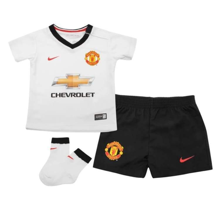 Jerseys / Soccer: Nike Manchester United 14/15 (A) S/s Infants Set 610949-106 - Nike / Month: 18-24 / White / 1415 Away Kit Clothing