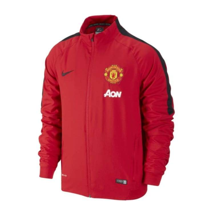 Jackets / Track: Nike Manchester United 14/15 Squad Sideline Woven 610565-688 - Nike / S / Red / 1415 Clothing Football Jackets Jackets /