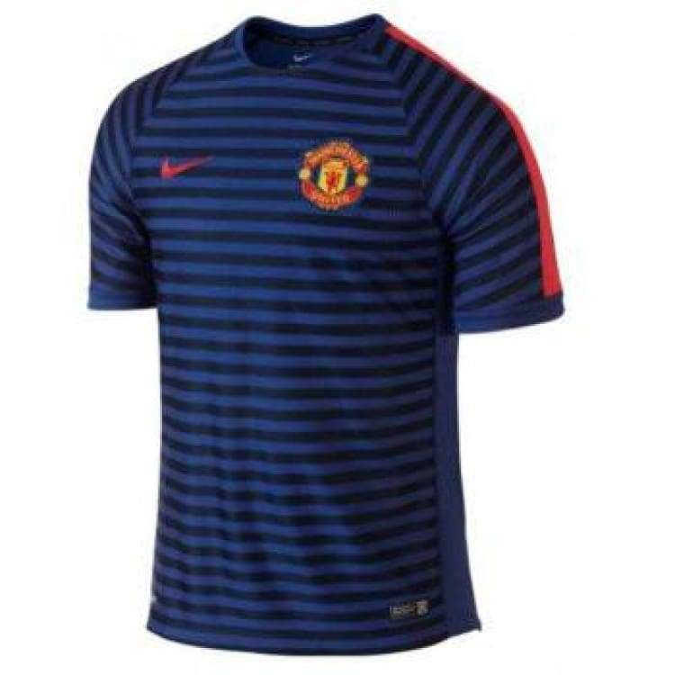 Jerseys / Soccer: Nike Manchester United 14/15 Squad S/s Training Top 636183-417 - Nike / L / Purple / 1415 Clothing Football Jerseys
