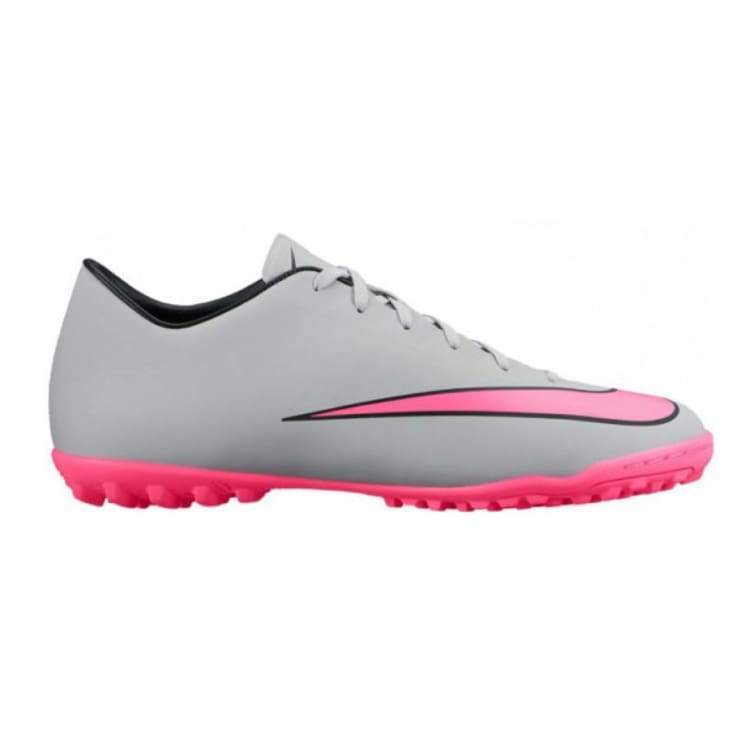 Shoes / Soccer: Nike Mercurial Victory V Tf Gy/pk/bk 651646-060 - Nike / Us: 7.5 / Grey / Football Footwear Grey Land Mens |
