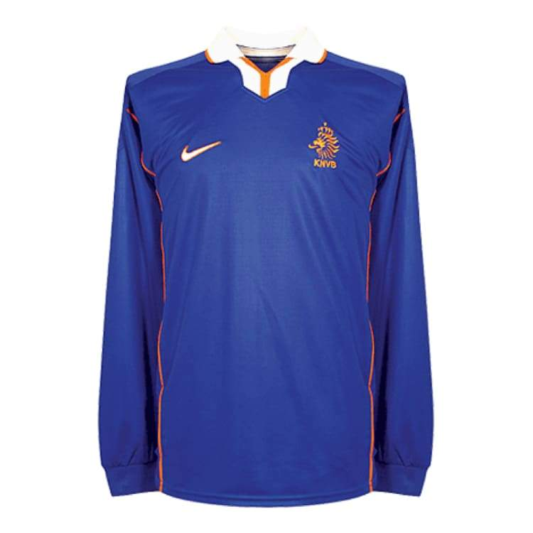 Jerseys / Soccer: Nike National Team 1998 Holland (A) L/s 769617-407 - Nike / Xl / Blue / Away Kit Blue Clothing Football Holland |