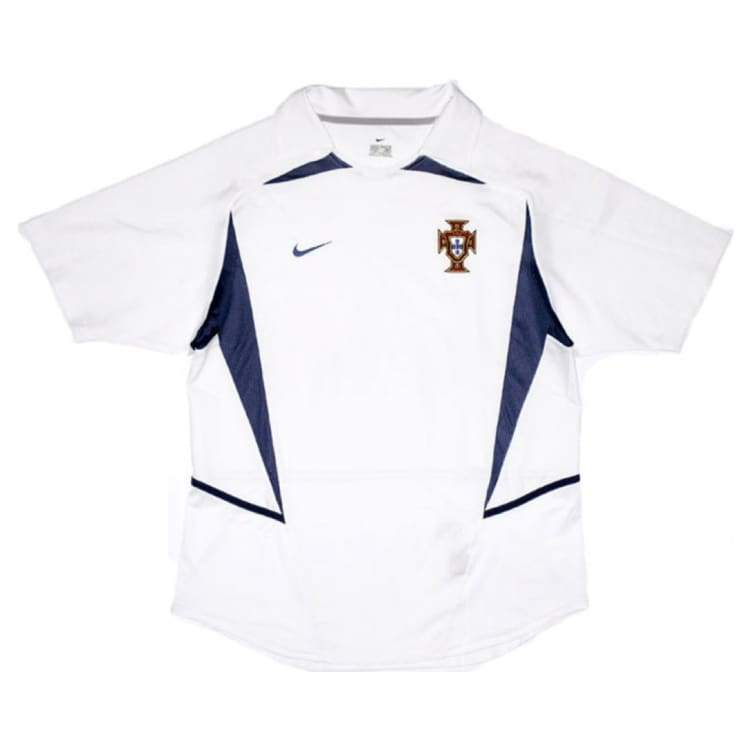 Jerseys / Soccer: Nike National Team 2002 Portugal (A) S/s Fans - Nike / S / White / 2002 Away Kit Clothing Football Jerseys |