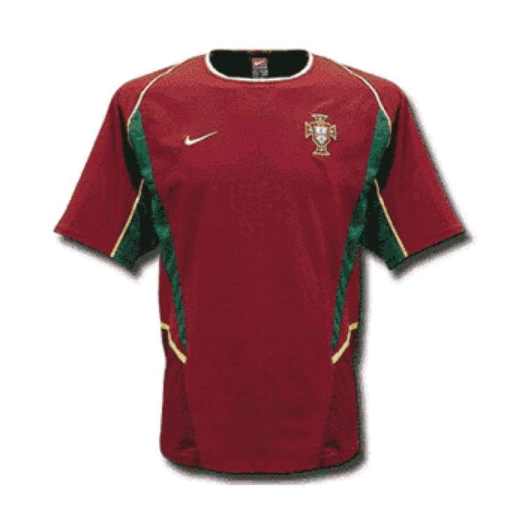 Jerseys / Soccer: Nike National Team 2002 Portugal (H) S/s Fans - Nike / S / Red / 2002 Clothing Football Home Kit Jerseys |