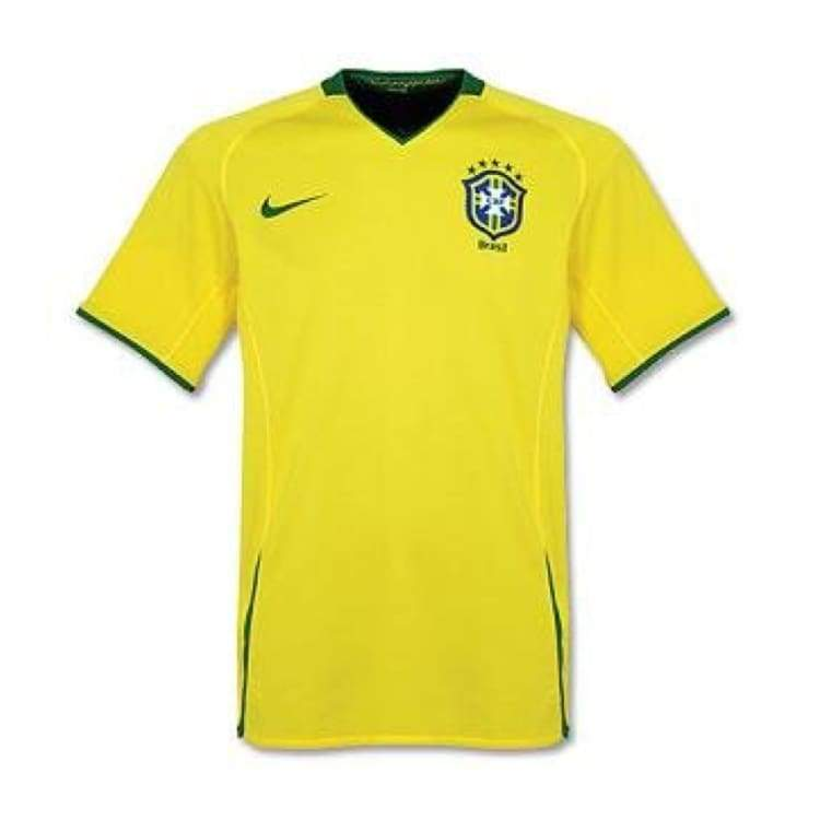 Jerseys / Soccer: Nike National Team 2008 Brazil (H) S/s Jersey - Nike / S / Yellow / 2008 Brazil Brazil (World Cup) Clothing Football |