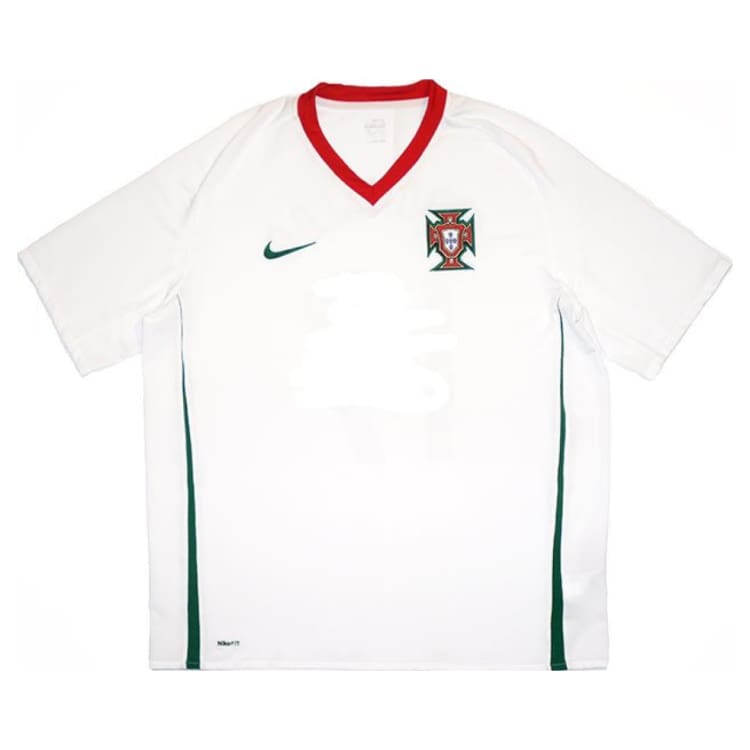 Jerseys / Soccer: Nike National Team 2008 Portugal (A) S/s - Nike / L / White / 2008 Away Kit Clothing Football Jerseys |