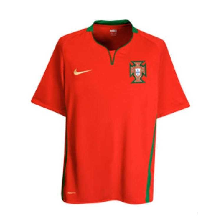 Jerseys / Soccer: Nike National Team 2008 Portugal (H) S/s Jersey - Nike / L / Red / 2008 Clothing Home Kit Jerseys Jerseys / Soccer |