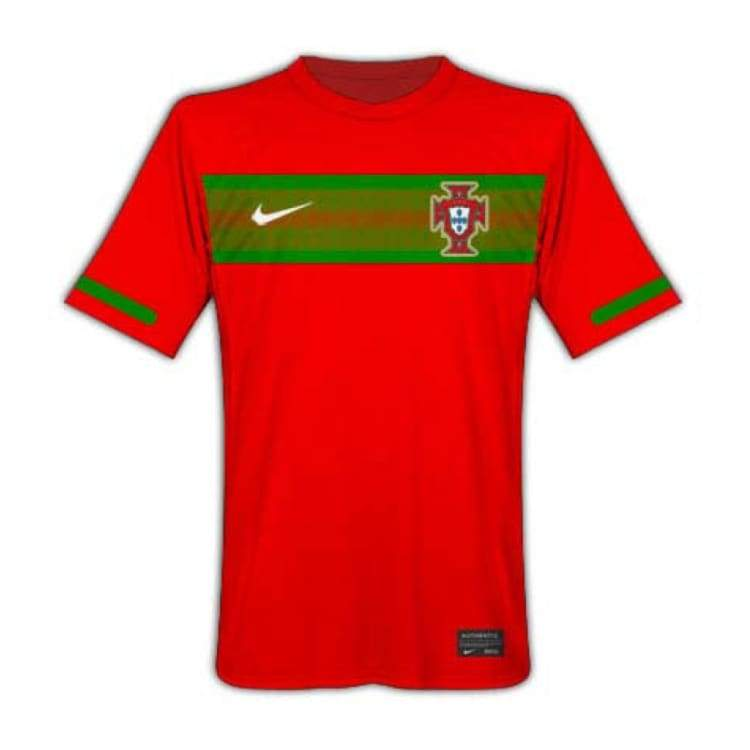 Jerseys / Soccer: Nike National Team 2010 Portugal (H) S/s 376894-611 - Nike / Xl / Red / 2010 Clothing Football Home Kit Jerseys |