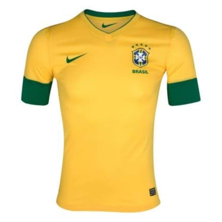 Jerseys / Soccer: Nike National Team 2012 Brazil (H) S/s Authentic Jersey 447930-703 - Nike / M / Yellow / 2012 Brazil Brazil (World Cup)
