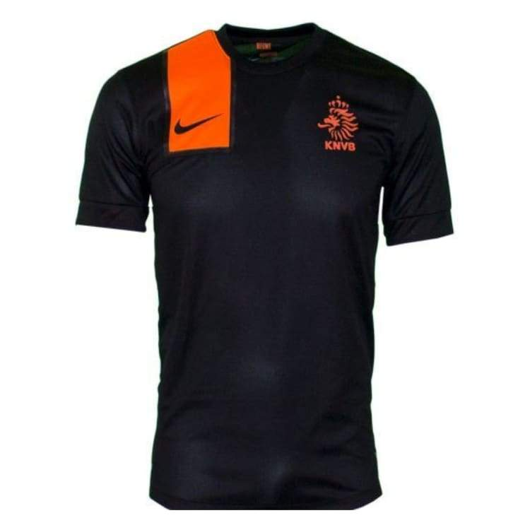 Jerseys / Soccer: Nike National Team 2012 Netherlands (A) S/s 447290-010 - S / Black / Nike / 2012 Away Kit Black Clothing Football |