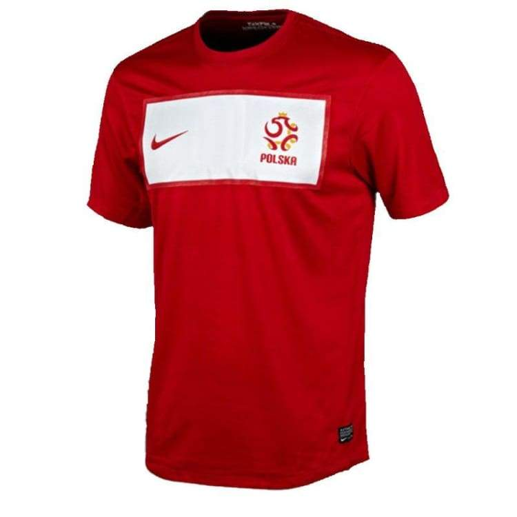 Jerseys / Soccer: Nike National Team 2012 Poland (A) S/s 450509-611 - Nike / S / Red / 2012 Away Kit Clothing Football Jerseys |