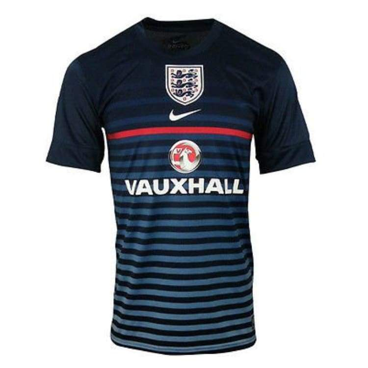 Jerseys / Soccer: Nike National Team 2013 England Pre-Match S/s Nvy 585378-452 - Nike / S / Navy / 2013 Clothing England England (World Cup)