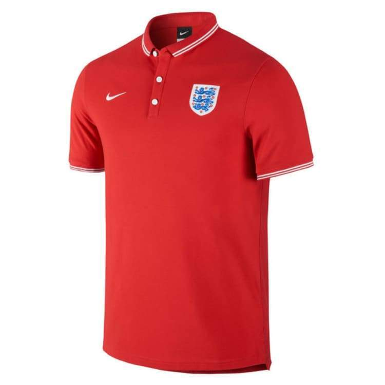 Polos / Short Sleeve: Nike National Team 2014 England Authentic Polo 614720-657 - S / Red / Nike / 2014 2Xl Clothing England England (World